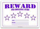 5 Star Reward Chart for Kids in Purple
