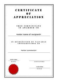Certificate of Appreciation - A4 Portrait - Stencil