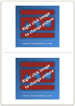 2x1 Picture Flash Card Template