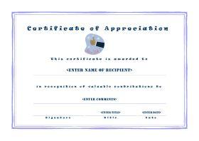 Certificate of Appreciation - A4 Landscape - Casual