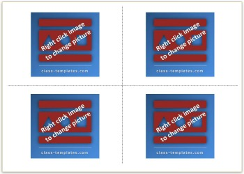 2x2 Picture Flash Card Template