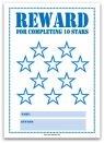 10 Stars Printable Reward Chart in Blue