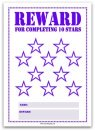 10 Stars Printable Reward Chart in Purple