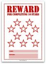 10 Stars Printable Reward Chart in Red