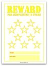 10 Stars Printable Reward Chart in Yellow
