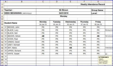 Attendance Form Printable | New Calendar Template Site