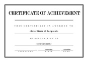 certificate of achievement 006