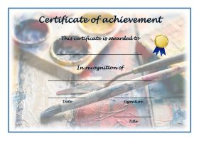 Free Printable Certificates of Achievement - A4 Landscape - Painting