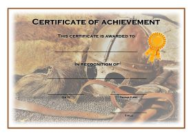 Free Printable Certificates of Achievement - A4 Landscape - History 1