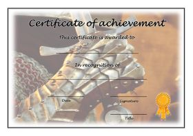 Free Printable Certificates of Achievement - A4 Landscape - History 2