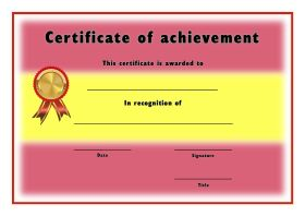 Free Printable Certificates of Achievement - A4 Landscape - Spanish 2