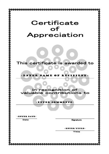 Free printable certificates of appreciation yadclub Images