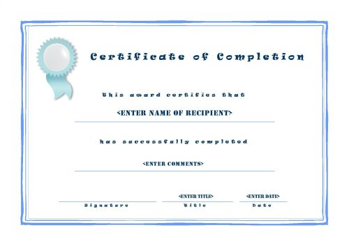Certificate Of Completion 001