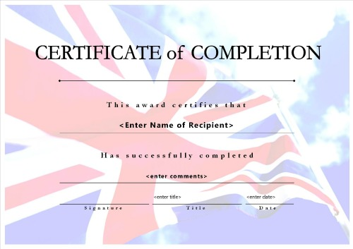 certificate of completion 007
