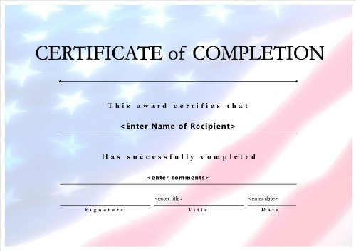 Download options for Certificate of Completion 008