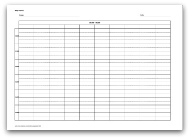 picture about Free Printable Daily Planner 15 Minute Intervals identify Number of Printable Everyday Planner formats