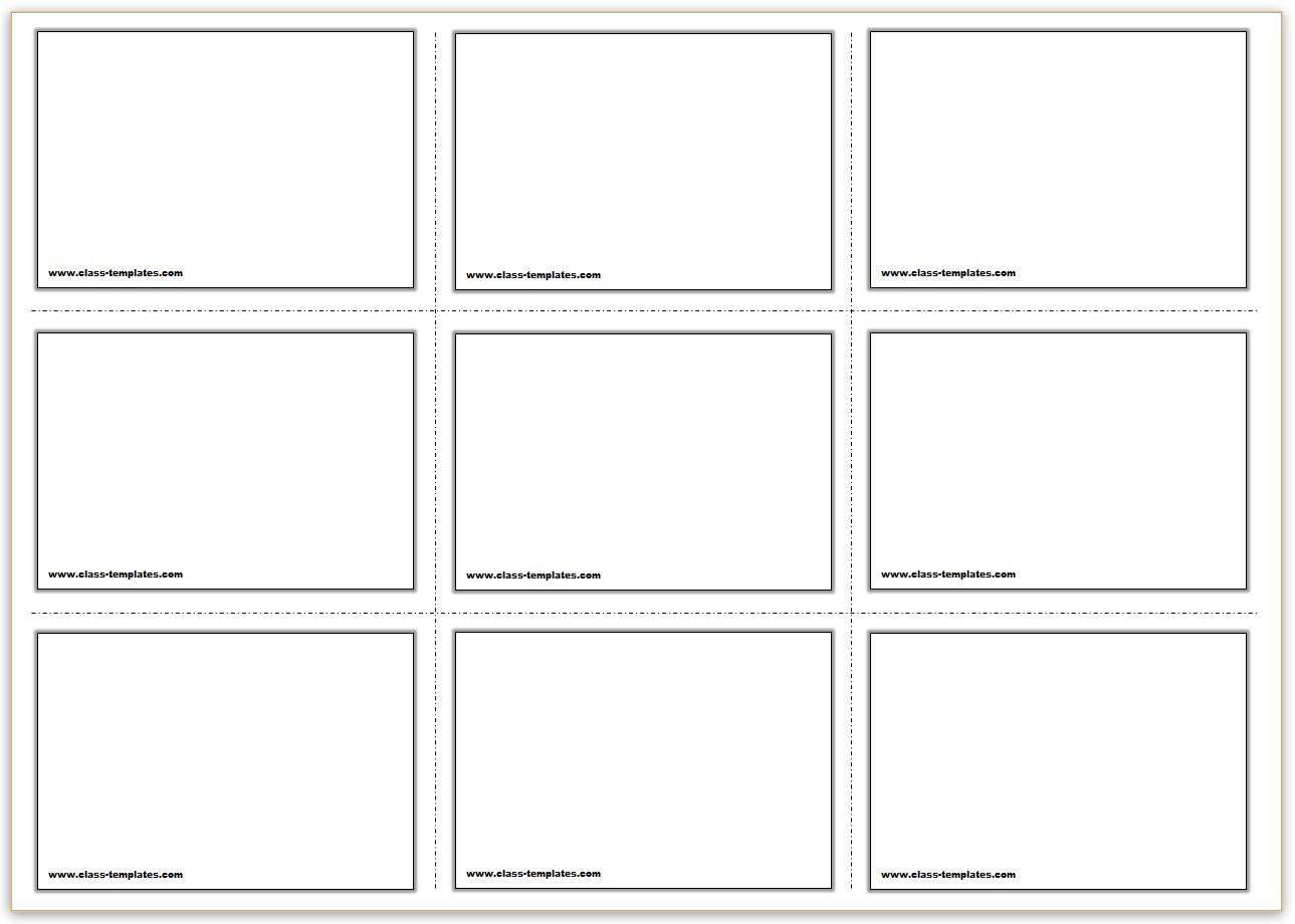 3x3 Free Printable Flash Cards Template  Line Card Template