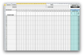 Monthly Attendance Templates in MS Excel format