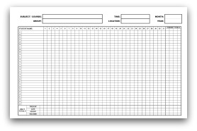Monthly Attendance Sheets