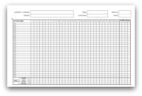 Monthly Attendance Forms In MS Word Format  Attendance Form Templates