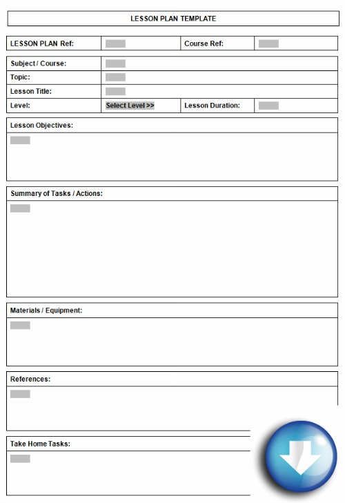 Free Downloadable Lesson Plan Format Using Microsoft Word Templates - Blank lesson plan template