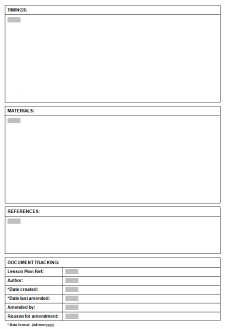 Template for esl tefl lesson plans for English lesson plan template pdf