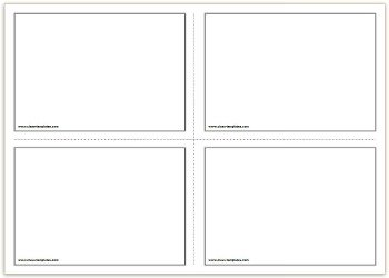 2x2 Free Printable Flash Cards Template