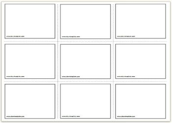 3x3 Free Printable Flash Cards Template
