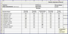 weekly attendance sheets