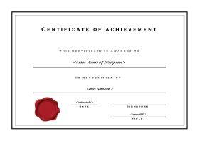 certificate templates formal