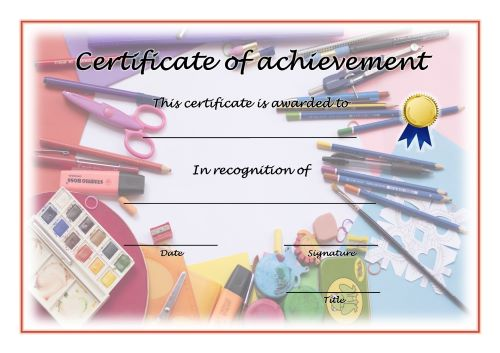 Certificate of Achievement - A4 Landscape - Creativity