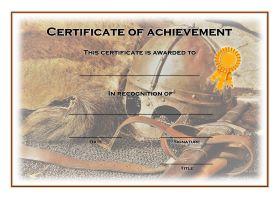 Certificate of Achievement - A4 Landscape - History 1
