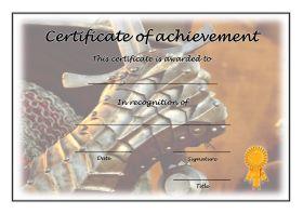 Certificate of Achievement - A4 Landscape - History 2