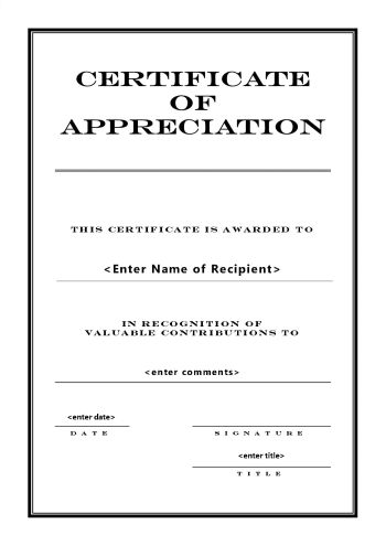 Certificates of appreciation 104 for Certificate of appreciation template publisher