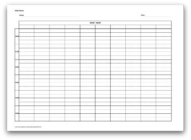 printable daily planner 24 hours for 10 people