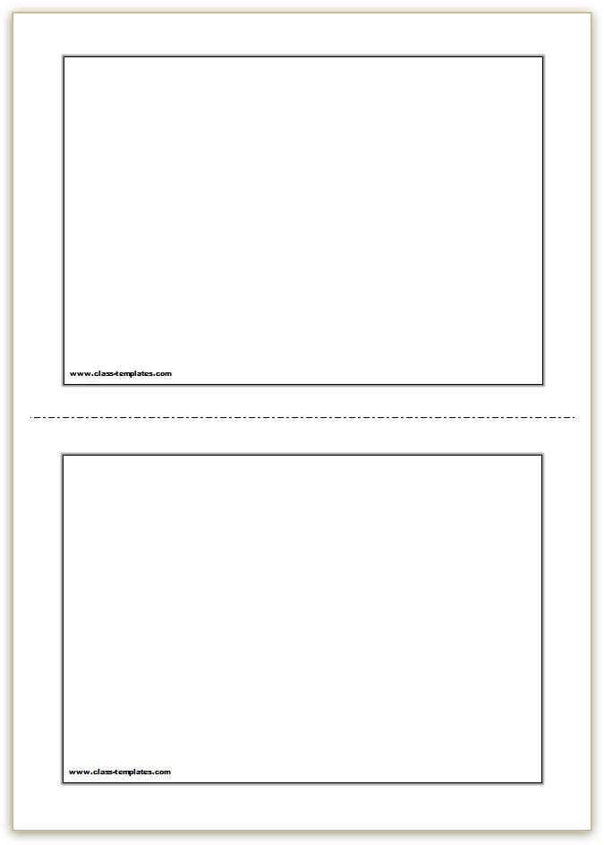 Free printable flash cards template for Postcard template for pages