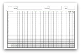 Monthly attendance sheets for School register template spreadsheet