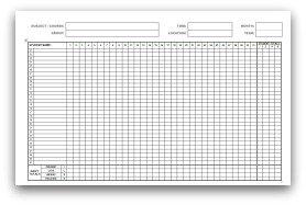school register template spreadsheet - monthly attendance sheets