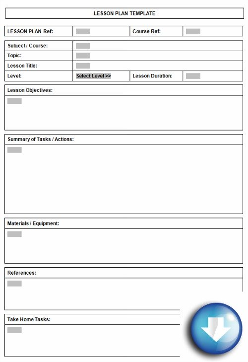 Free downloadable lesson plan format using microsoft word for Lesson preparation template