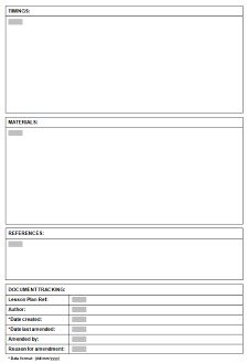 Template For ESLTEFL Lesson Plans - Monthly lesson plan template