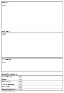 template for esl tefl lesson plans